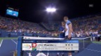 Video «Tennis: US Open, Viertelfinal Wawrinka-Anderson» abspielen