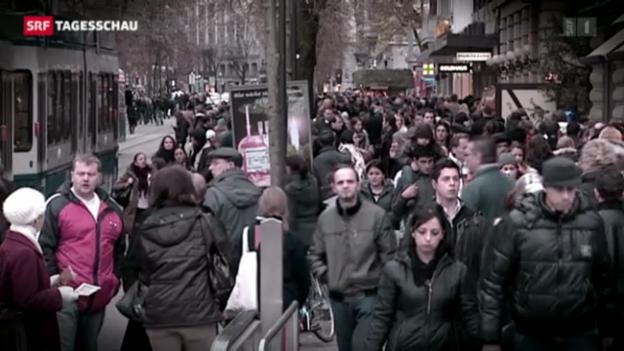 Video «In der Schweiz leben immer mehr Ausländer» abspielen