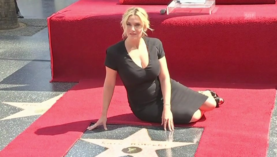 Kate Winslet auf dem «Walk of Fame»