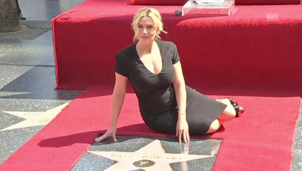 Video «Kate Winslet auf dem «Walk of Fame»» abspielen