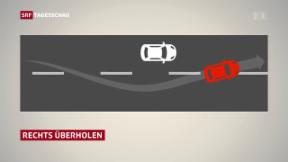 Video «Bundesrat will Rechts-Vorbeifahren auf Autobahn erlauben» abspielen
