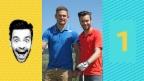 Video «Michel Birri golft mit Remo Käser» abspielen