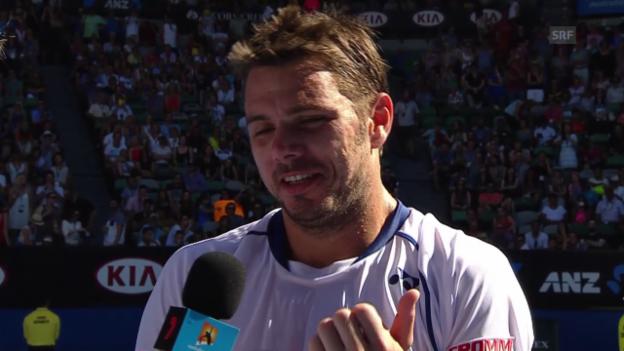 Video «Tennis: Australian Open, Wawrinka - Nieminen, Platzinterview Wawrinka» abspielen