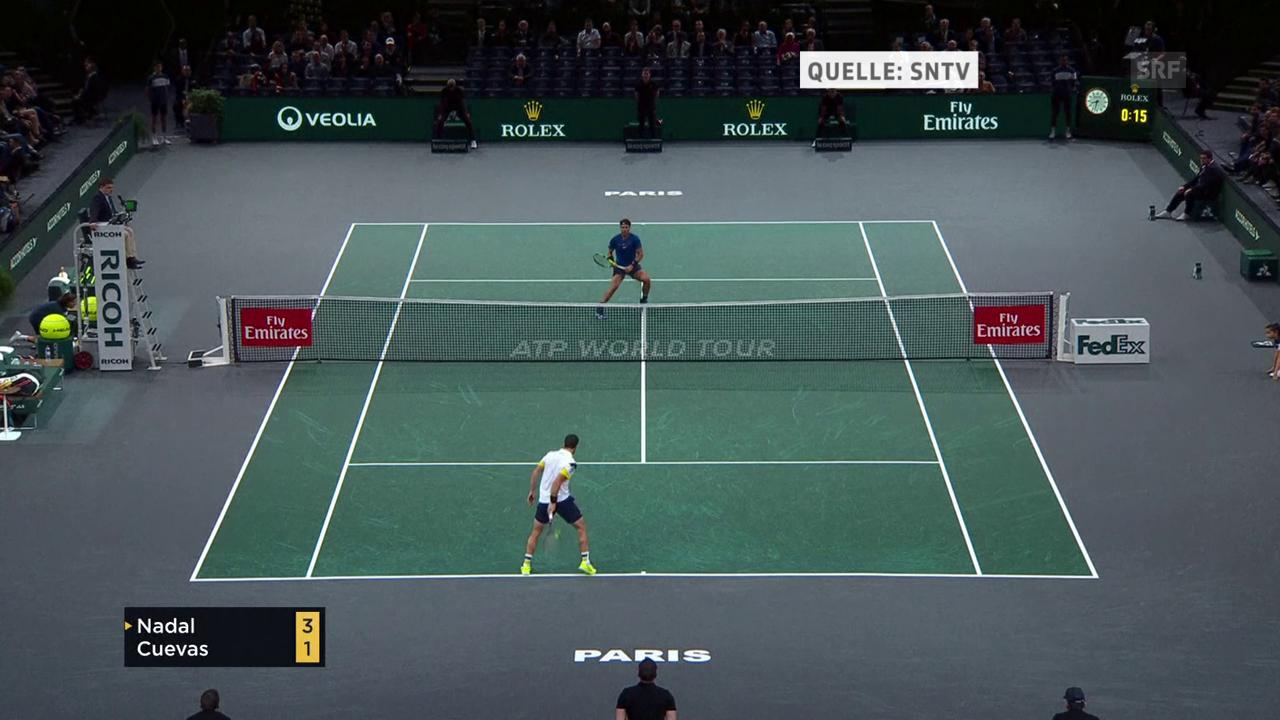 Cuevas mit dem Tweener des Tages gegen Nadal