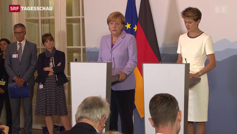 Deutsche Bundeskanzlerin in Bern