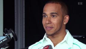 Video «Lewis Hamilton schaut in Schaffhausen vorbei» abspielen