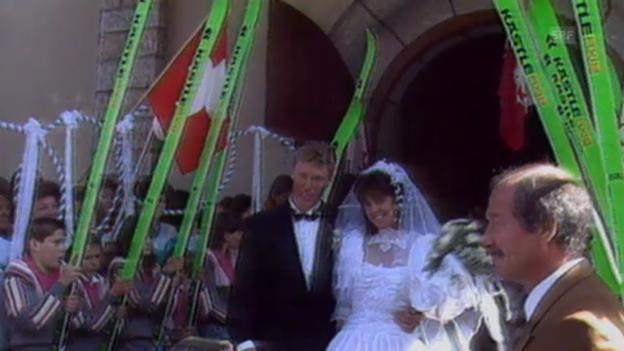 Video «Hochzeit Zurbriggen, Sportpanorama 30.09.1989» abspielen