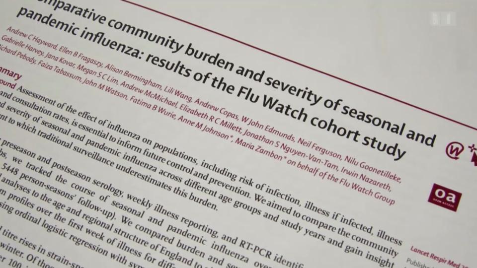 Grippe ohne Symptome