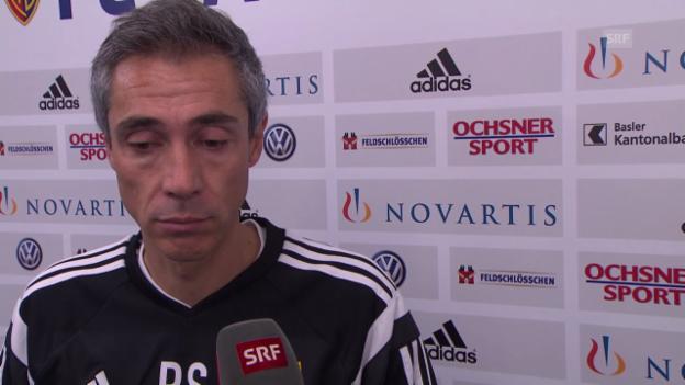 Video «Fussball: Basel-Trainer Sousa über die Vorbereitung auf das YB-Spiel» abspielen