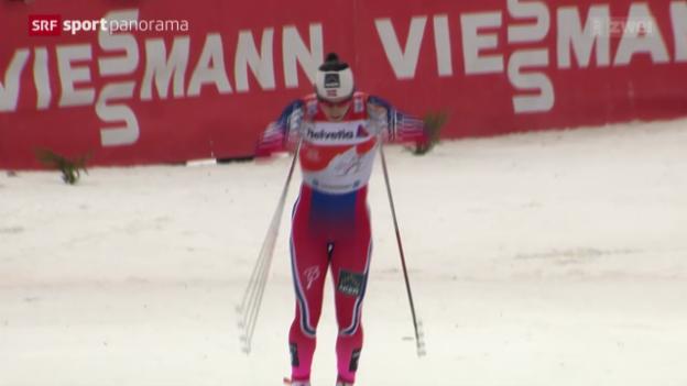 Video «Langlauf: Tour de Ski, 2. Etappe Frauen in Oberstdorf» abspielen