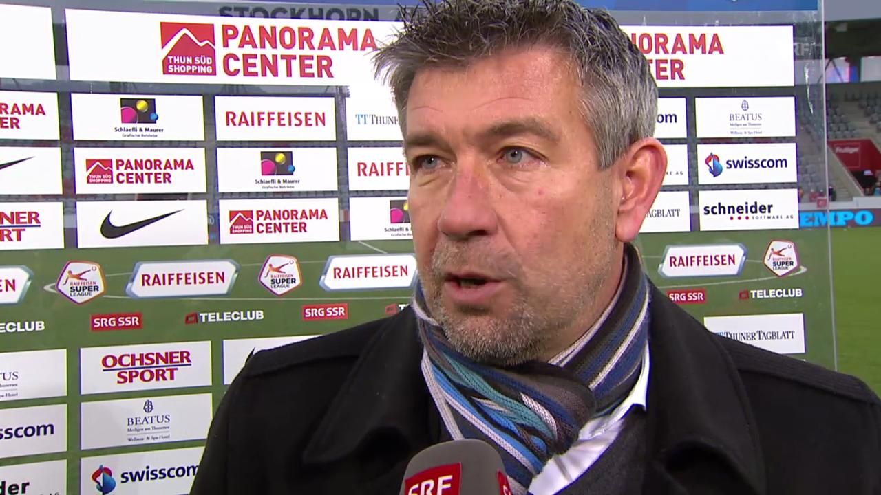 Fussball: Super League, Thun - Zürich, Interview mit Urs Fischer