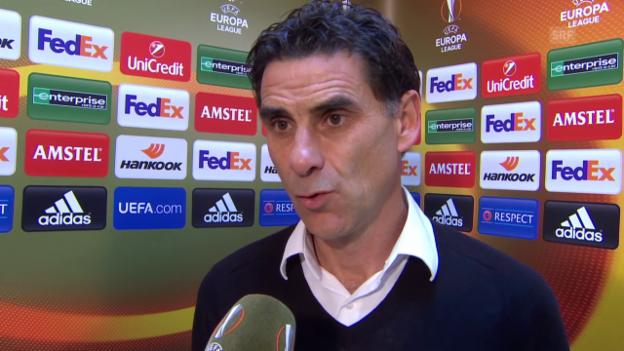 Video «Fussball: Europa League 2015/16, 2. Gruppenspiel, Liverpool – Sion, Interview mit Didier Tholot (auf Französisch)» abspielen