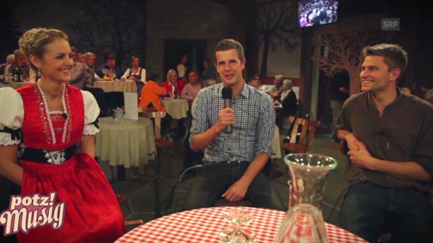 Video ««Potzmusig» Stubete 2014: Interview vor der Sendung» abspielen