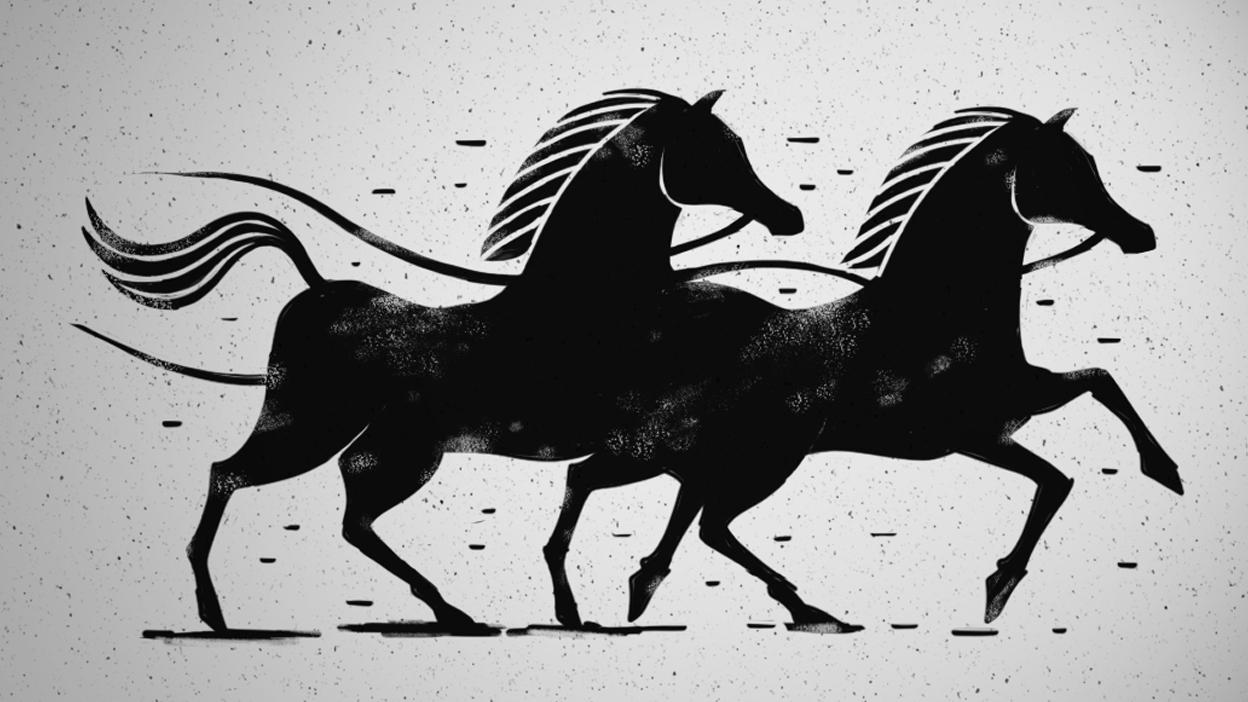 Sokrates und Xanthippe - Die durchgedrehten Pferde