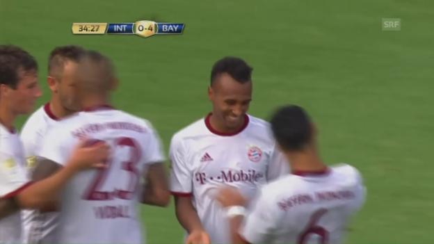 Video «Starke Bayern fertigen Inter Mailand ab (SNTV)» abspielen