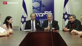 Video «Israel: Koalition mit hauchdünner Mehrheit» abspielen
