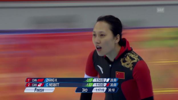 Video «Eisschnelllauf: Zusammenfassung 1000 m Frauen» abspielen