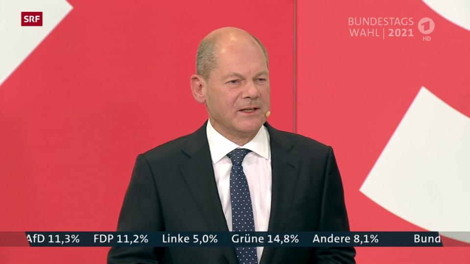 Scholz: «Viele Bürgerinnen und Bürger wollen, dass der nächste Kanzler Olaf Scholz heisst»