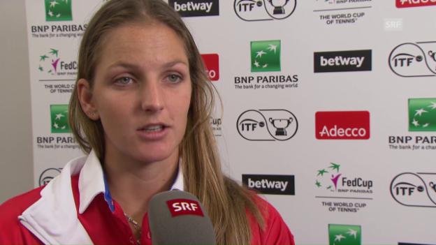 Video «Interview mit Karolina Pliskova» abspielen