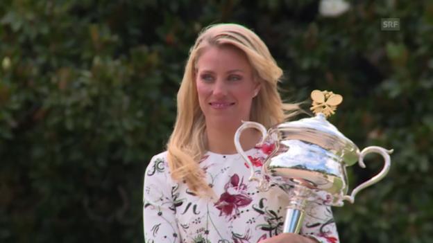 Video «Kerber am Tag nach ihrem Australian-Open-Triumph» abspielen