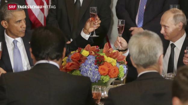 Video «UNO-Vollversammlung: Treffen von Putin und Obama» abspielen