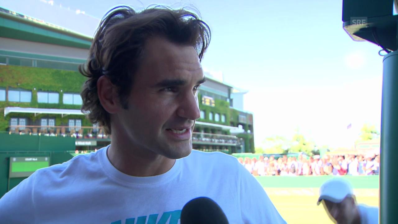 Tennis: Federer vor seinem 9. Wimbledon-Halbfinal