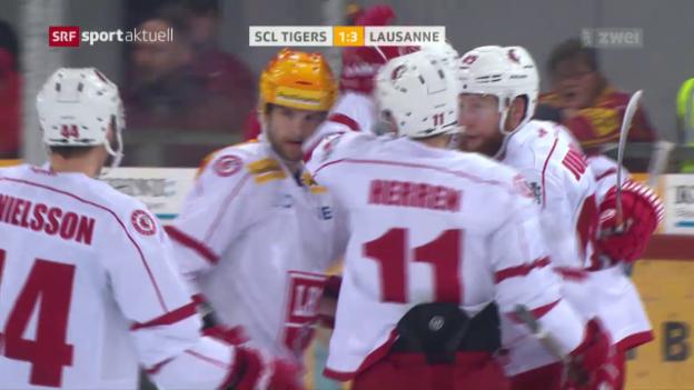 Video «Lausanne gewinnt in Langnau» abspielen