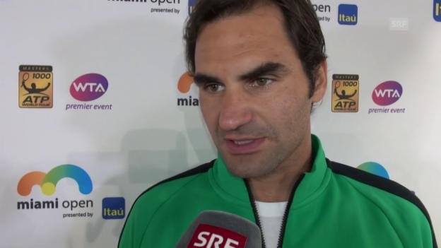 Video «Federer blickt auf die Partie gegen Berdych voraus» abspielen