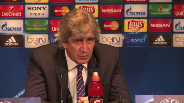 Video «ManCity-Trainer Manuel Pellegrini vor dem CL-Duell mit PSG» abspielen