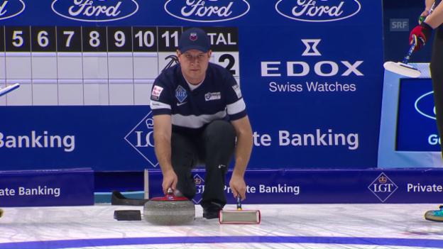 Video «Shusters Fehlstein bringt der Schweiz 2 Punkte» abspielen