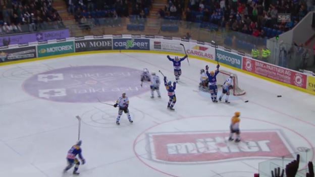 Video «Eishockey: Playoff-Viertelfinal, Spiel 6, Kloten - Freiburg» abspielen