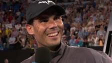Link öffnet eine Lightbox. Video Nadal: «Hast du ein paar Tequilas getrunken?» abspielen