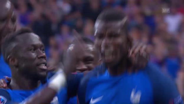 Video «Frankreich stürmt in den Halbfinal» abspielen