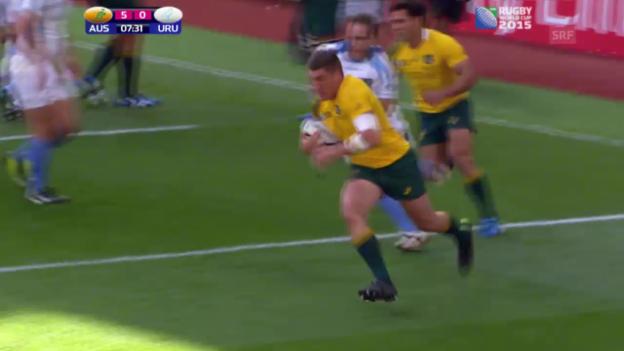 Video «Rugby: WM, Highlights bei Australien-Uruguay» abspielen