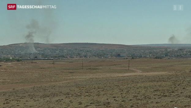Video «Heftige Gefechte in Kobane» abspielen