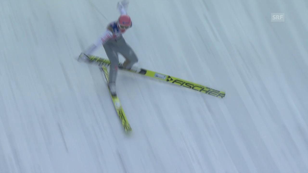 Skispringen: Vierschanzentournee, Innsbruck, Sturz Freund