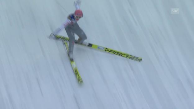 Video «Skispringen: Vierschanzentournee, Innsbruck, Sturz Freund» abspielen