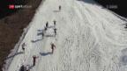 Video «Vertical Up: Das Lauberhorn in entgegengesetzer Richtung» abspielen