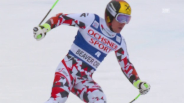 Video «Ski: Super-G Beaver Creek, Fahrt Marcel Hirscher» abspielen