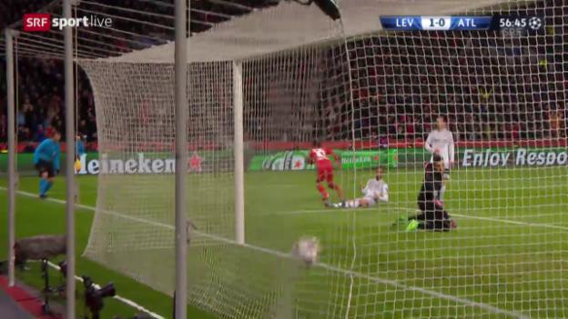 Video «Fussball: Champions League, Achtelfinal, Leverkusen – Atletico Madrid» abspielen