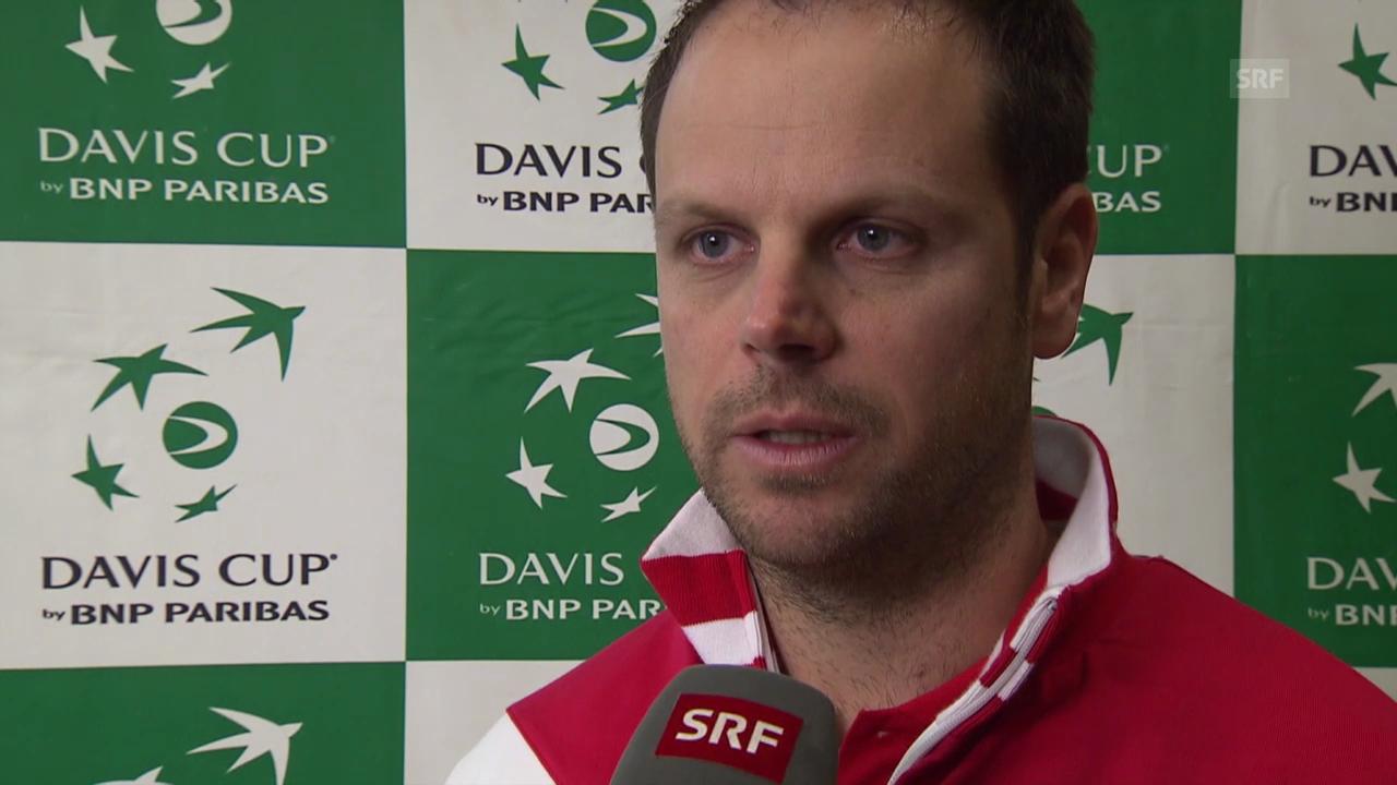 Tennis: Davis Cup, Interview mit Severin Lüthi