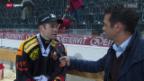 Video «Eishockey, NLA: Stimmen Bern - Zug» abspielen