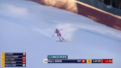 Video «Ski: Abfahrt Santa Caterina, Fahrt von Marc Gisin» abspielen