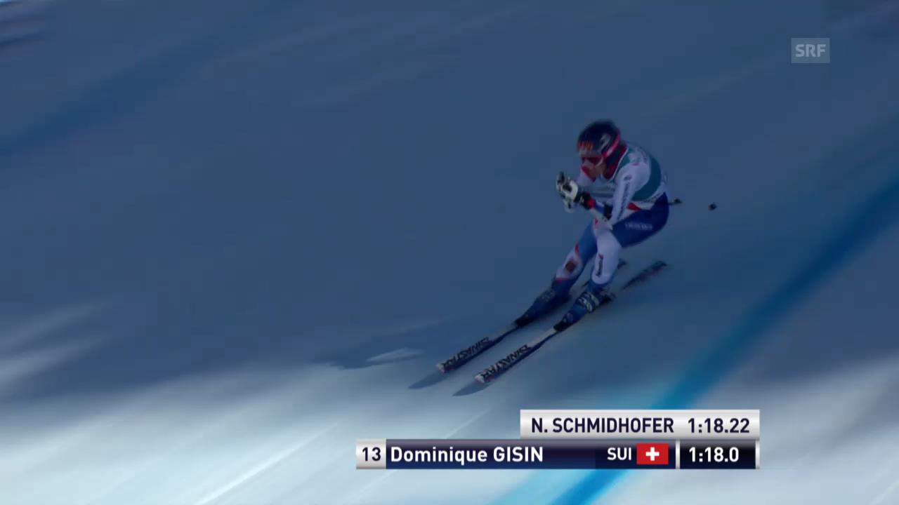 Ski Alpin: Super-G Frauen auf der Lenzerheide, die Fahrt von Dominique Gisin («sportlive», 13.3.2014)