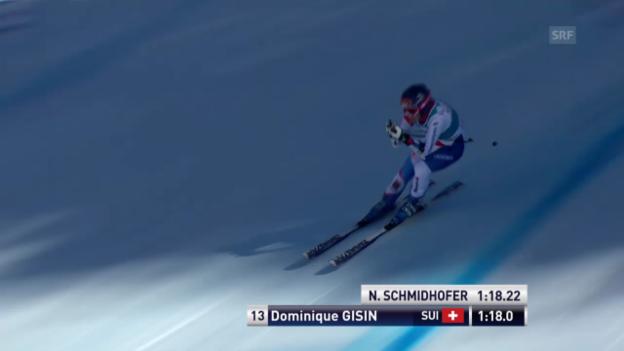 Video «Ski Alpin: Super-G Frauen auf der Lenzerheide, die Fahrt von Dominique Gisin («sportlive», 13.3.2014)» abspielen