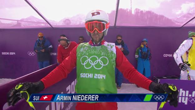 Video «Skicross: Männer, Halbfinal mit Niederer (sotschi direkt, 20.2.2014)» abspielen