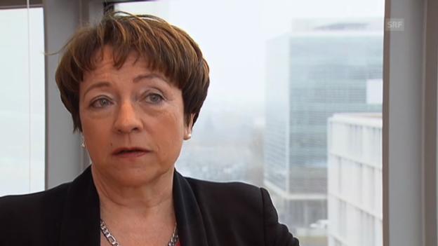 Video «Barbara Kessler, Novartis, über einen möglichen Wegzug» abspielen