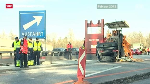 Video «Mehr Sicherheit für Strassenarbeiter» abspielen