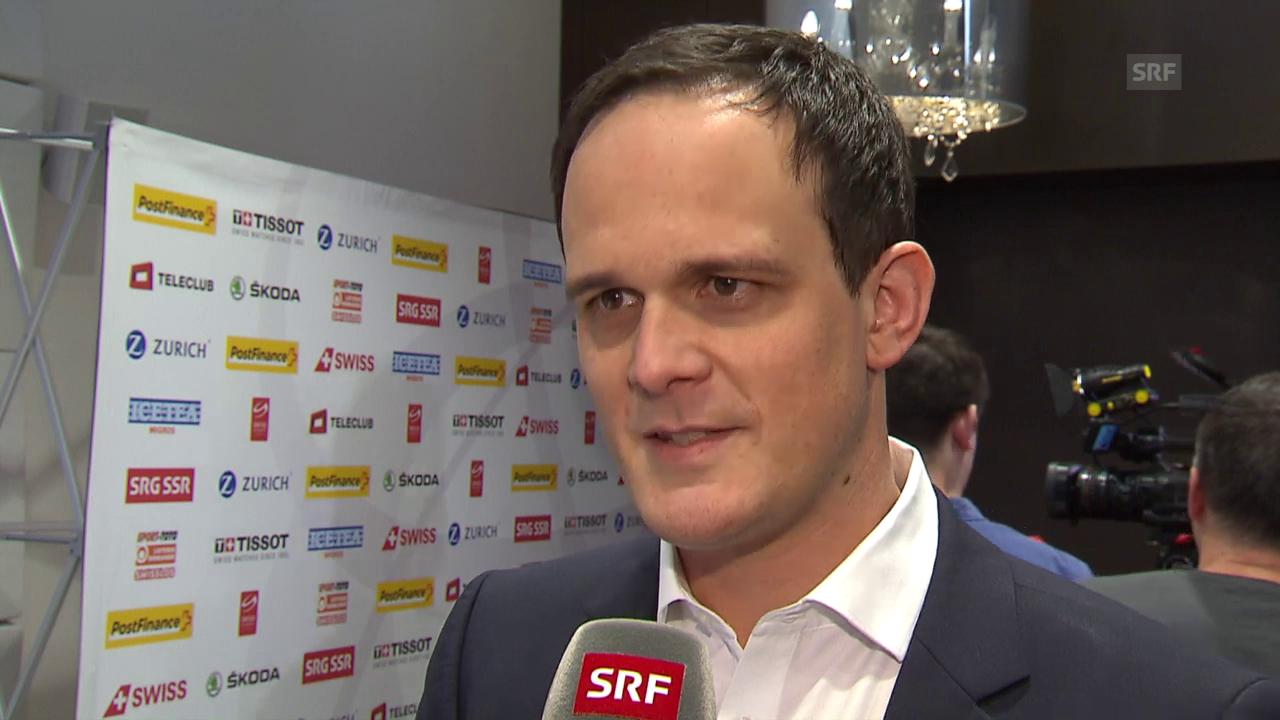 Eishockey: Medienkonferenz Nationalmannschaft, Interview Florian Kohler