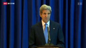Video «Kerry zu Friedensverhandlungen» abspielen